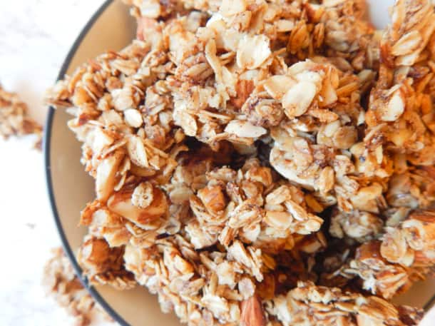 Cinnamon Sugar Roasted Nut Granola (gluten-free)