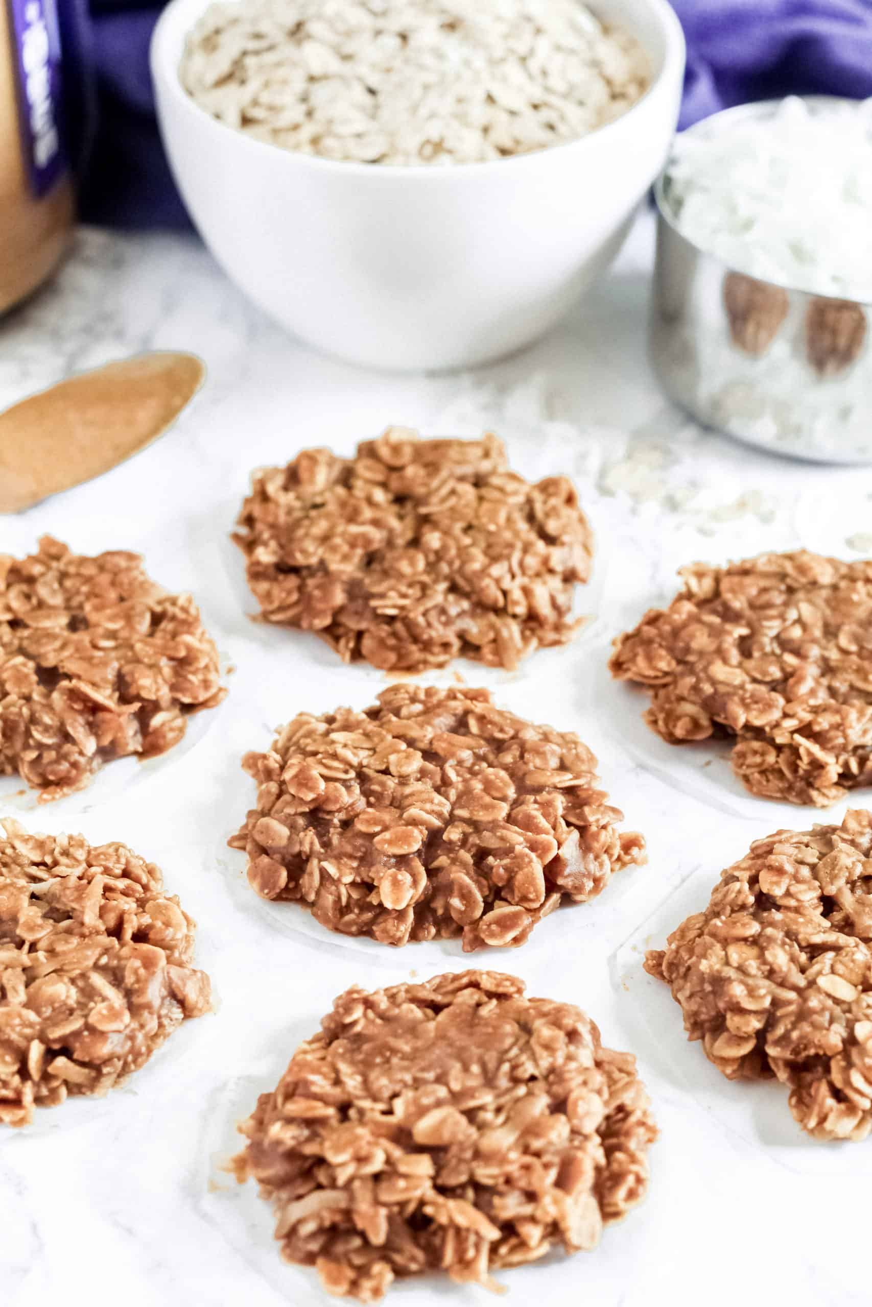 cookies with oats on a counter
