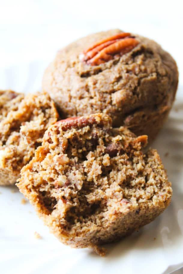 Pecan Pie Muffins (gluten-free, whole grain)