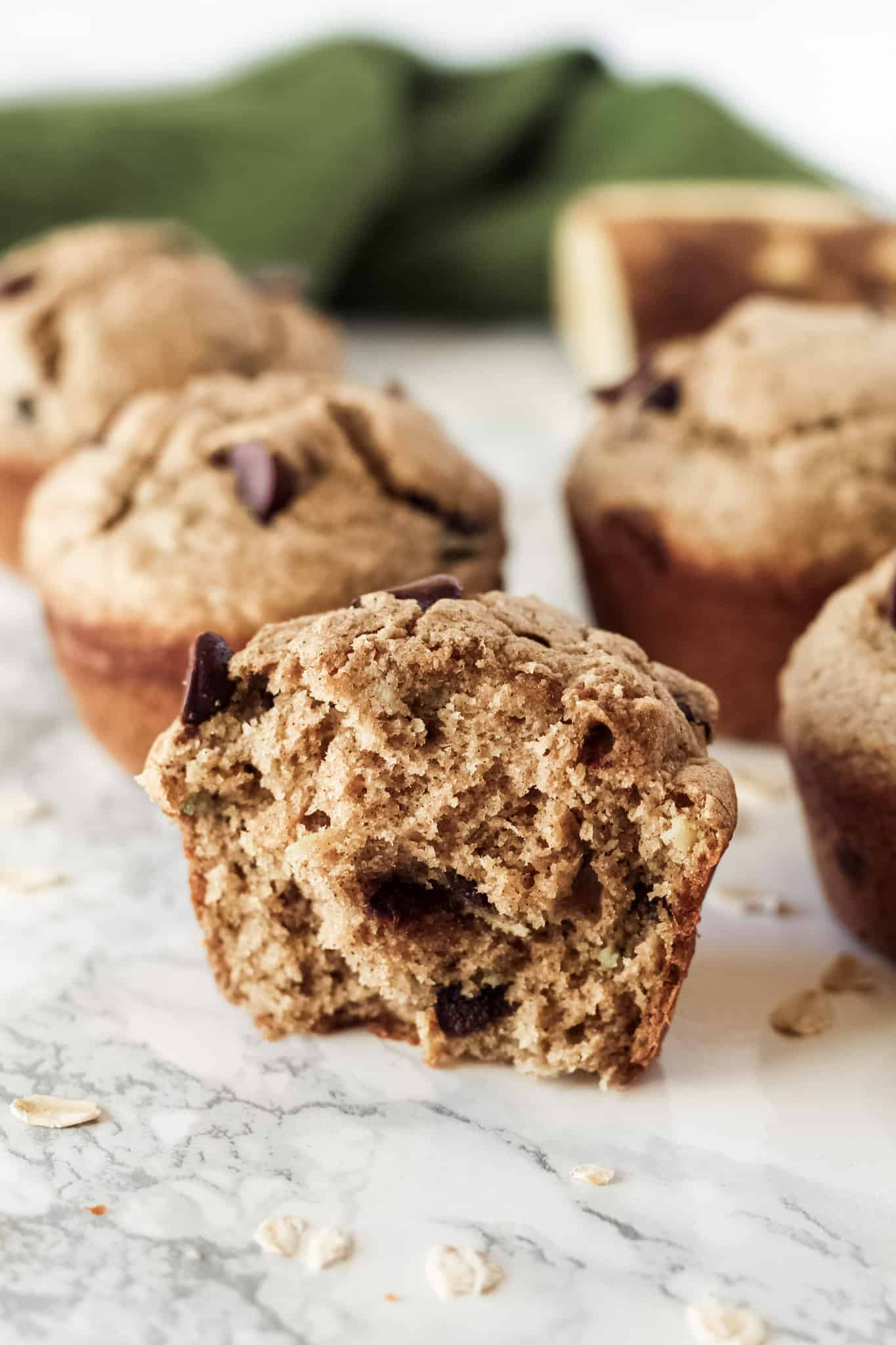 One muffin cut in half