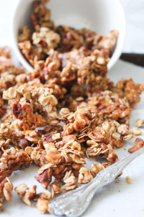 Chai-Spiced Granola (gluten-free, whole grain, refined sugar-free)