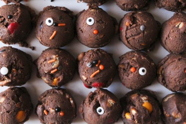 Halloween Chocolate Junk Cookies (gluten-free)