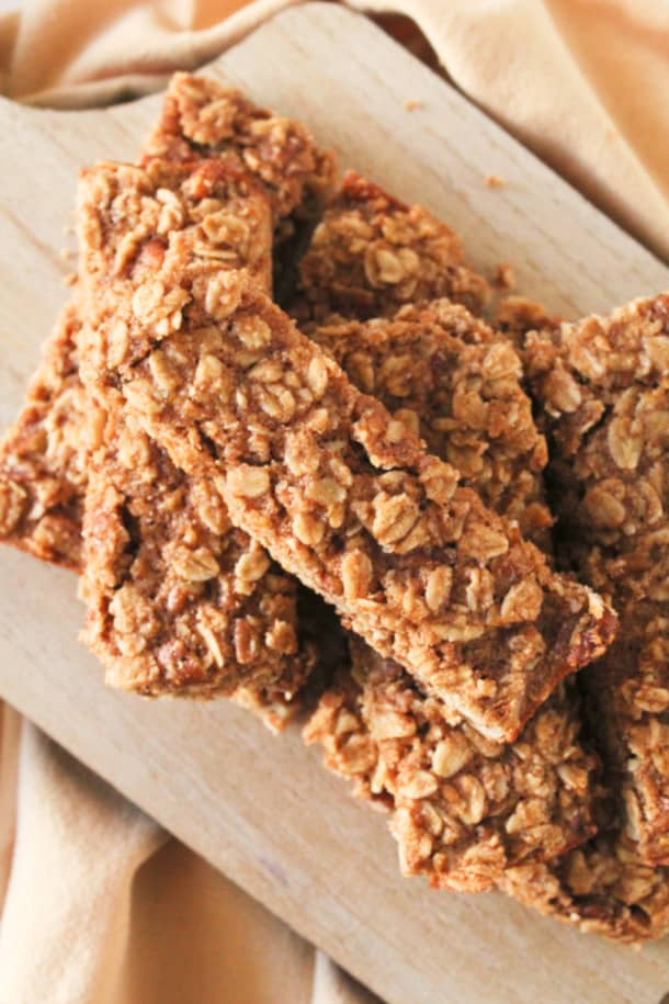 A close up of granola bars
