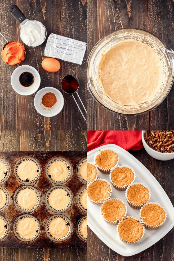 Pumpkin cheesecake filling process pics