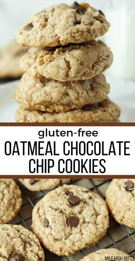 stack of Oatmeal Chocolate Chip Cookies and others on a cooling rack