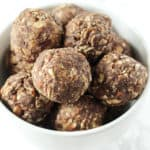 A bowl of snack balls