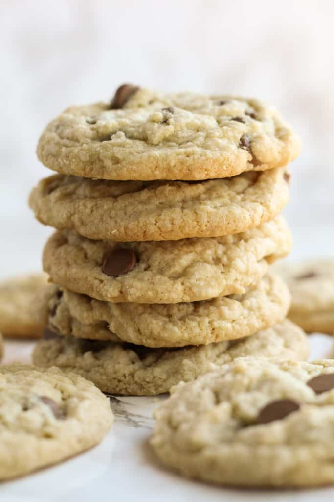 a stack of six Chocolate Chip Cookies