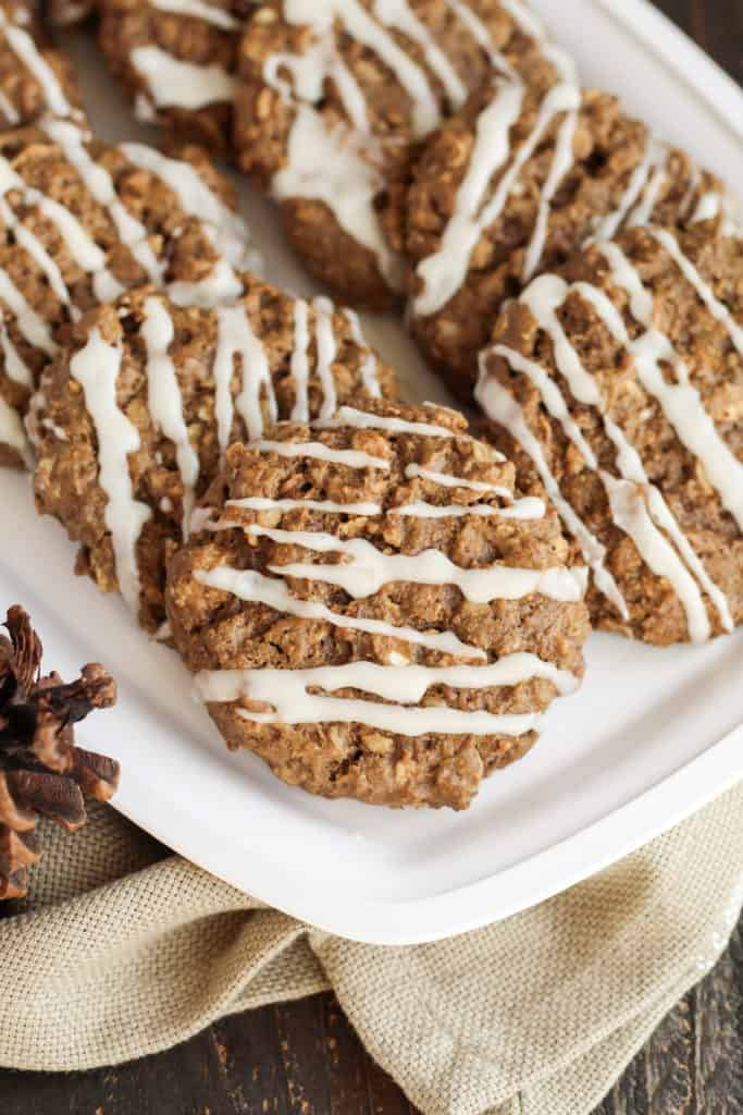 A close up view of a tray of Gingerbread Breakfast Cookies