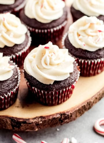 A close up of chocolate cupcake