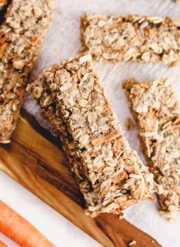 Close up of granola bars