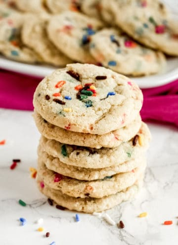 Stack of cookies with sprinkles