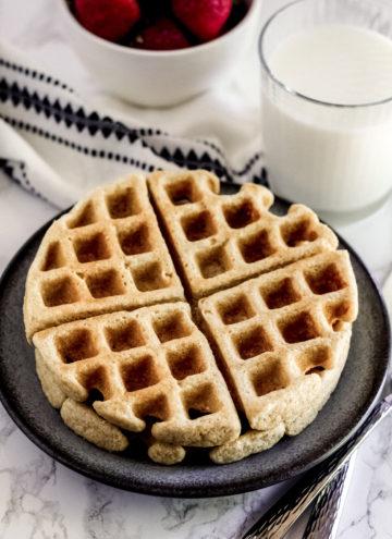 Waffle on a plate