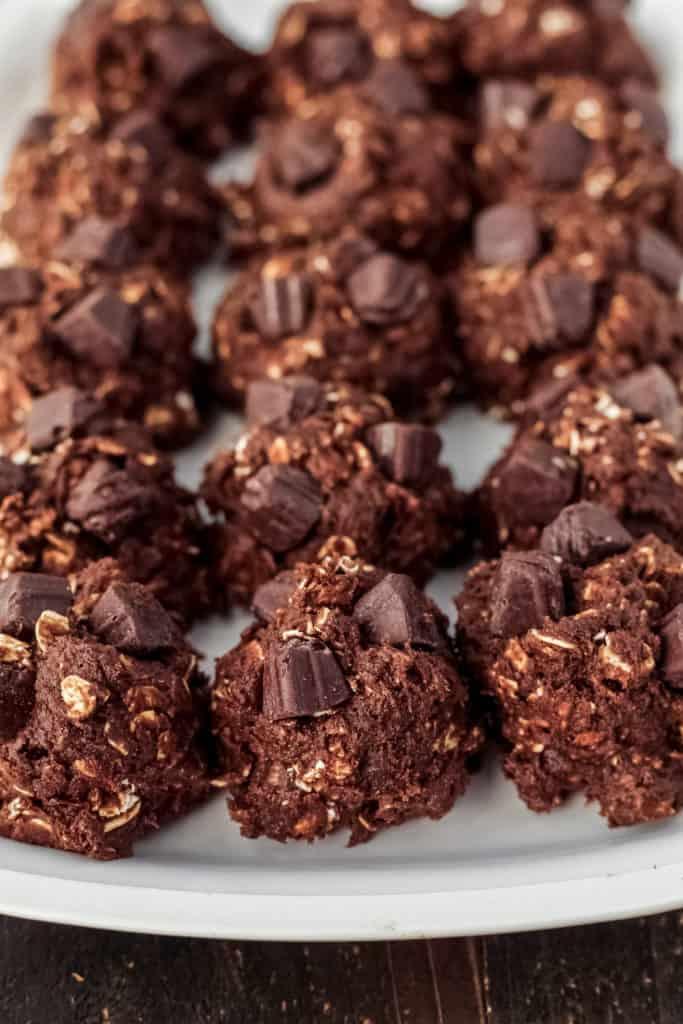 Close up of cookie dough balls