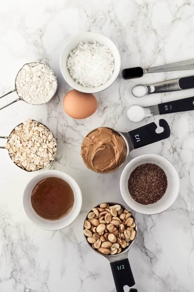 Ingredients for the cookies