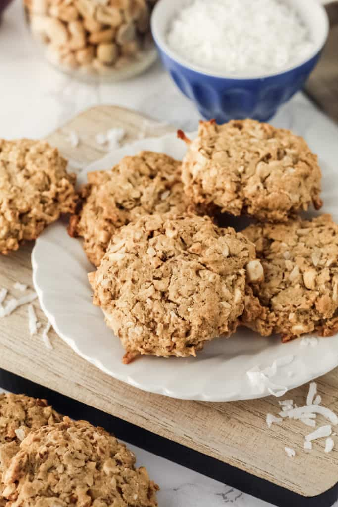 Breakfast cookies on a plate