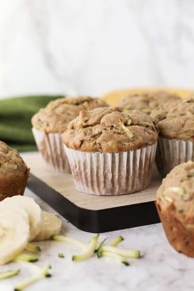 Muffin on a tray