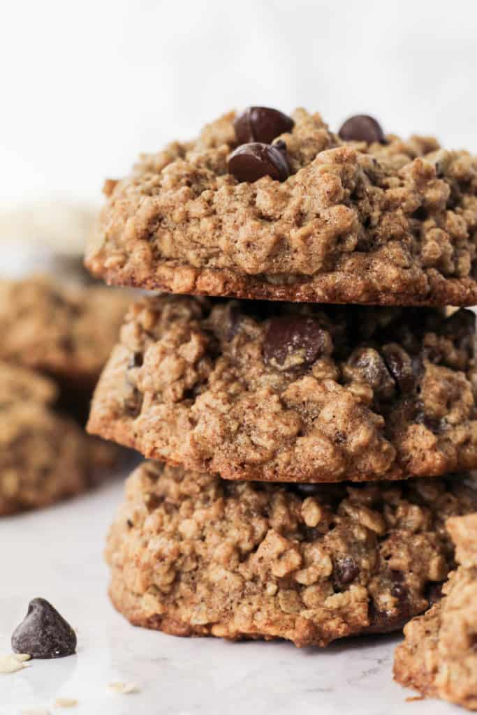 Close up stack of cookies